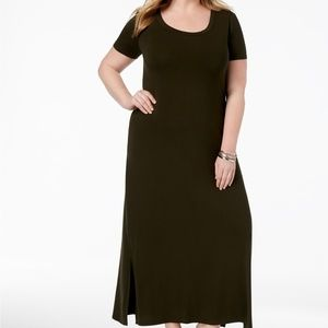 Style & Co Womens Dress T-Shirt Maxi Short Sleeve